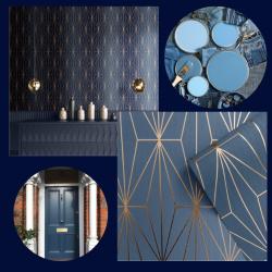 Navy-Blue-Wallpaper-Interior-Design-Ideas